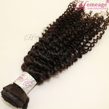 Homeage Top quality double drawn peruvian remy hair extension no shed curly hair
