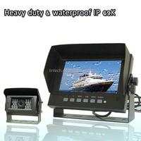 Night Vision Heavy Duty 7'' Waterproof LCD Rear View Video Display Monitor With Car Backup Camera