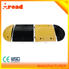 black and yellow 500*350*50mm rubber speed bump
