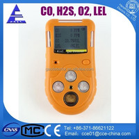 Portable Multiple Gas Detector for Carbon Monoxide, Oxygen, Hydrogen Sulfide and Methane gases