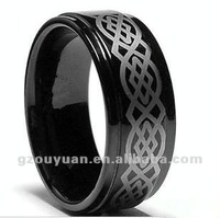 2012 New Design Black Tungsten Celtic Ring, Tungsten Carbide Ring For Men and Women