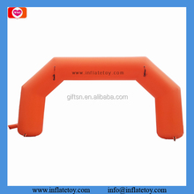 Orange outdoor event entrance arch design inflatable advertising arch portable finish line arch