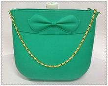 2012 New Arriving Purple Color Ladies Fashion Stone Handbags silicone lady bag