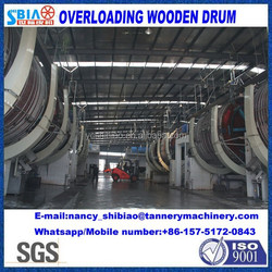 Chinese manufactuer D3.3X3M tanning drum/ leather retanning/dyeing overloading wooden drum/leather machine