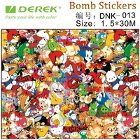 DEREK Graffiti graphic car wrapping bomb sticker vinyl 30 meter