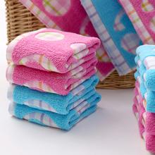 EAswet 100% Cotton Gauze 32s Jacquard Dot Pink Blue Color Face Towel