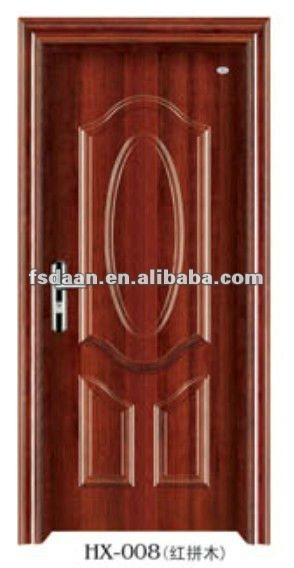Factory Solid wood entry model main door with painting