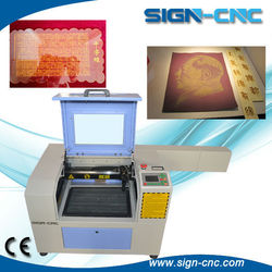 SIGN 4030 wedding invitation card laser cutter / co2 laser cutting machine/60w laser cutter