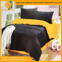 King Comforter set 100% cotton 4pcs solid duvet cover set classic bed linen set made in china home textile bedding set wholesale