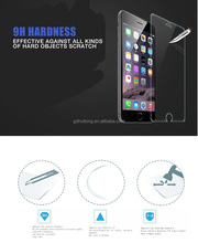 Free sample!Anti-shock 2.5D 9H tempered 0.20mm glass screen protector for iphone 6/6S