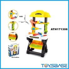 Niños de rol de plástico herramientas de juguete banco de trabajo de juguete