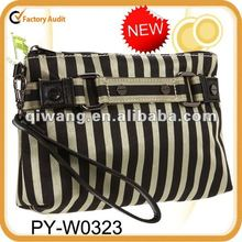 stripe collection cosmetic travel bag wristlet
