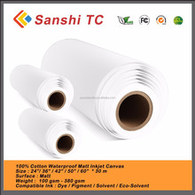 Inkjet Polyester Canvas 280g Image Printing Glossy Eco Solvent Canvas