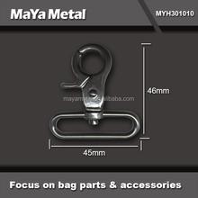 Fashion black 45mm trigger dog hook bag accessories MYH301010