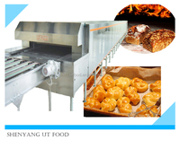 commercial stainless steel electric tunnel oven for bread baking