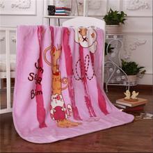 Wholesale cartoon polyester fleece children blankets cute baby spring autumn blanket