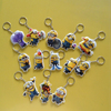 OEM price high quality 3D Double Sides minions led keychain in pvc
