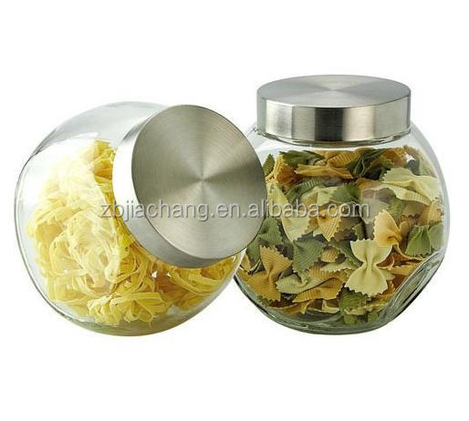 Clear round can stand sideways glass jar with lid buy glass jar with