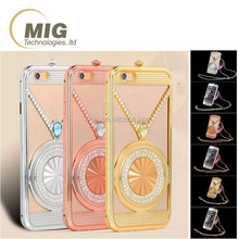 Fashional Czech diamond metal bumper shell girls use mobile phone case cover for samsung note 5/ note 4/ note 3/ for s6 s5 s4 s3