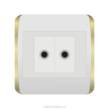 igoto British standard new design 2 gang tv satellite socket --H2071/2