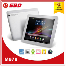Cheapest 9.7 inch quad core tablet MTK8389 1GB 8GB Android 4.2 WIFI Bluetooth Camera mid