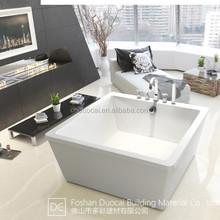 Modern Freestanding 1350mm Square Shape Acrylic Bathtub (CM-G821)
