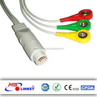 ECG Leadwires compatible with Fukuda with one-piece lead wires