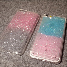 pink phone cover for iphone6plus pouch glitter shining case cartoon soft silicon tpu cover for apple for samsung