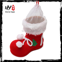 Christmas plastic santa claus boots, gift packaging boots