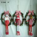 """14"""" santa/muñeco de nieve/reno de navidad corona de flores con el tablero de madera"""