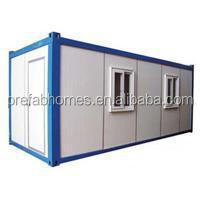 modern prefabricated container home floor plan