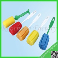 2015 Long handle soft shower bath ball Sponges Back Brush can be hung back Scrubbers (green)