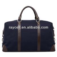 BSCI Custom Promotional Waxed Canvas Weekender Travel Duffel Bag