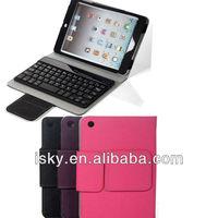 Black Premium Wireless Bluetooth ABS Keyboard Folio PU Leather Case Cover Magnetic Smart Stand for iPad 2 New Apple iPad mini