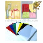 coloridos de plástico rígido de pvc folha para termoformagem