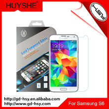 HUYSHE mobile phone accessory 0.33mm thickness 9h tempered glass screen protector for samsung s5