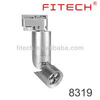 7.5w CE 2pin silver 3000K led track light adjustable beam angle 10-32 for artist studio lighting