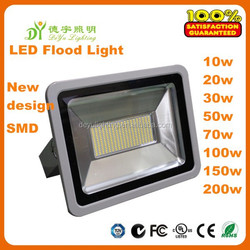 2 Years Warranty Factory Price Sanan SMD Meanwell Driver IP66 Outdoor 10W 20W 30W 50W 70W 100W 150W 200W LED Flood Light