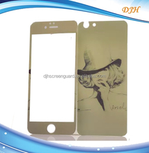 Artistic pictured colorful tempered glass screen protector for iphone 6 plusfront and back