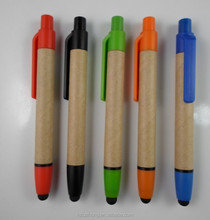 Recycled paper touch cheap promotional ballpoint pen & advertising pen CH-6526