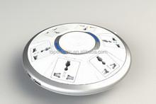 Customizable desktop socket with plug 3 pin socket UFO universal AC 220v provided by manufacturer directly (TZ-11221)