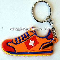 Custom made innovative rubber soft pvc mini running shoe keychain