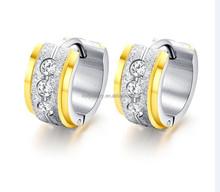 Dubai Gold Jewelry Earring Light Weight Gold Zircon Earring