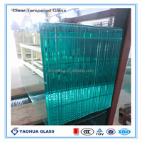 china exports CE approved 12mm thk clear tempered glass