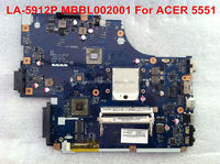 Wholesale High quality Laptop Motherboard For ACER 5551 LA-5912P MBBL002001, fully tested