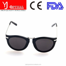 2015 New Top Quality Super Popular Circle Round sunglasses Simple black and white design