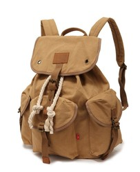 drawstring canvas bag / Top selling canvas backpack / canvas backpack factory