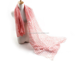 Fashionable new design hot sale dot and stripe printed scarf