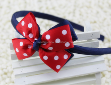 Bow flower infant headband, baby girl headband