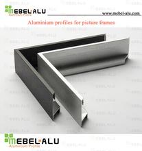 aluminium picture frame good price per kg aluminium extrusion profile Wood grain colour